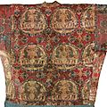 A rare ans important silk robe, sogdiana, central asia, 7th-8th century