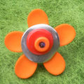 Bague fleur orange