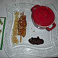 Brochettes de poulet aux cacahuètes