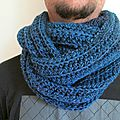 3 snoods au crochet