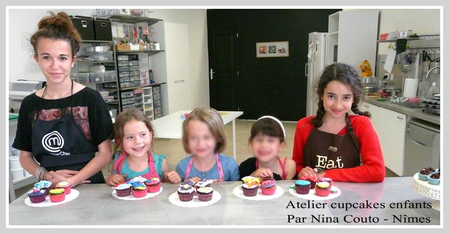 atelier cupcakes enfants nimes Avril 2015 groupe