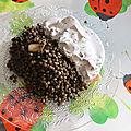 Pavé de saumon sauce crème de riz, aneth, citron, tomates séchées et lentilles