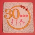 Carte d'anniversaire 30 ans