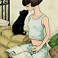 °oo morning reading with my cat oo°