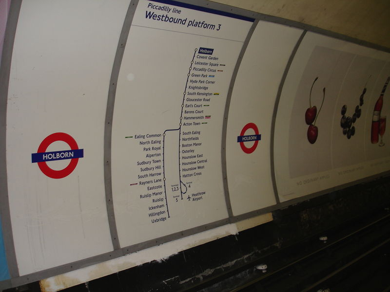London Underground : signalétique