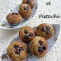 Muffins pistache et griottines