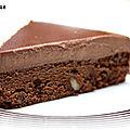 Gâteau chocolat-noisette et panna cotta nutella