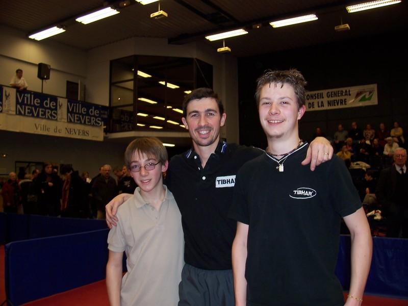 Dimitri et Benoit avec Sébastien Jover