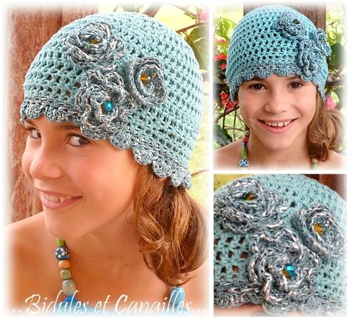 Bonnet babydoll crochet