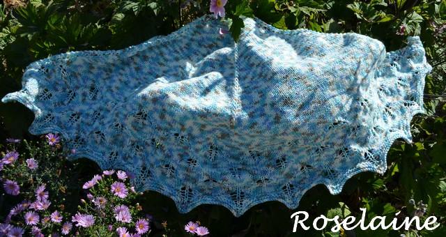 Roselaine Subtle Leaves Knit Shawl 1