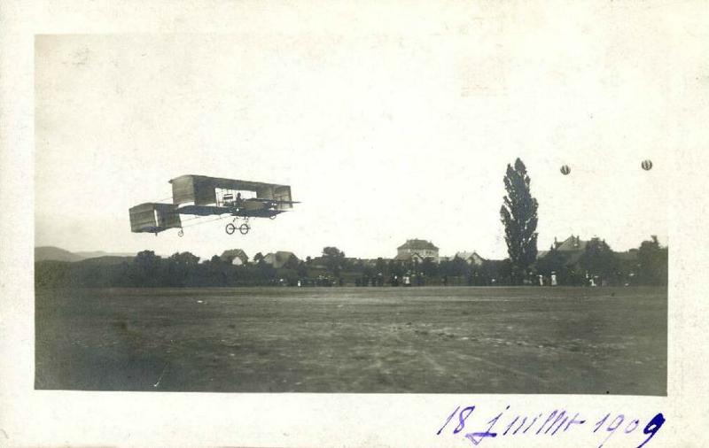 CPhoto Ferber Aéroplane Voisin 18 Juillet 1909 AD90