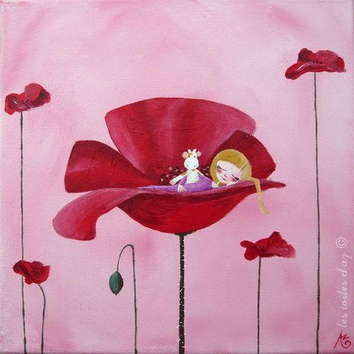 Rose coquelicot 30x30