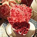 Panna cotta aux fleurs de sureau et framboises