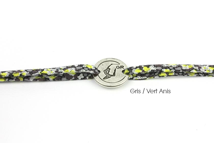 bracelet liberty GR gris vert anis