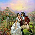 Peinture : famille, locomotive, couple, paysage feerique, enfants, animaux