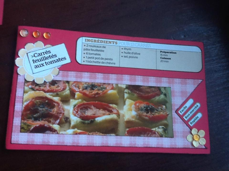 feuilletés tomates chèves et pesto
