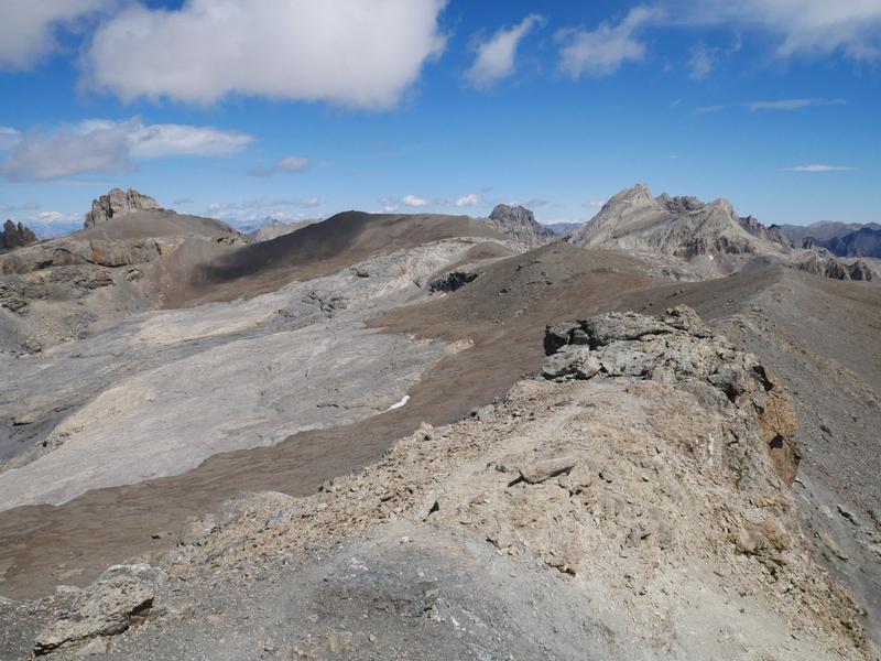 La Mortice,sommet nord, crête et Pics de La Font Sancte