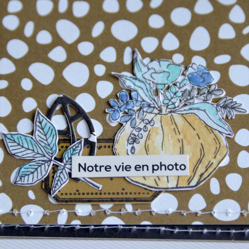 mini carré la vie est tellement belle - collection Esprit Folklore- octobre18- devant page#15-detail-claire- scrapathome- Chou&Flowers