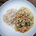 Poulet curry coco ananas cuiseur vapeur