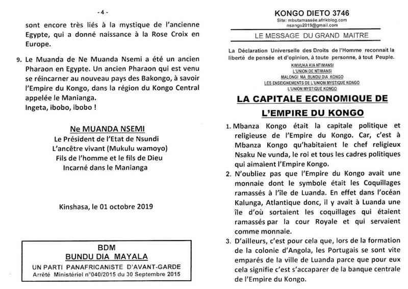LA CAPITALE ECONOMIQUE DE L'EMPIRE DU KONGO a