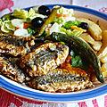 Sardines frites m'charmla ( tehrissa au cumin )- سردينة مشرملة مقلية