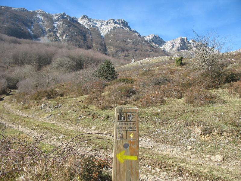 Zegama, sentier Tunnel San Adrian, panneau