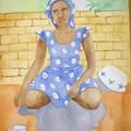La femme au pagne bleu