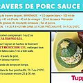 Travers de porc sauce barbecue