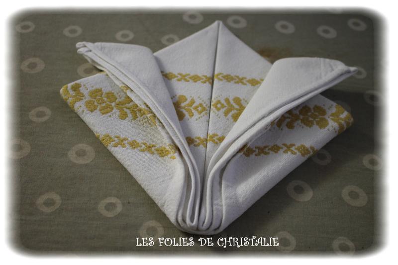 Pliage serviettes 6