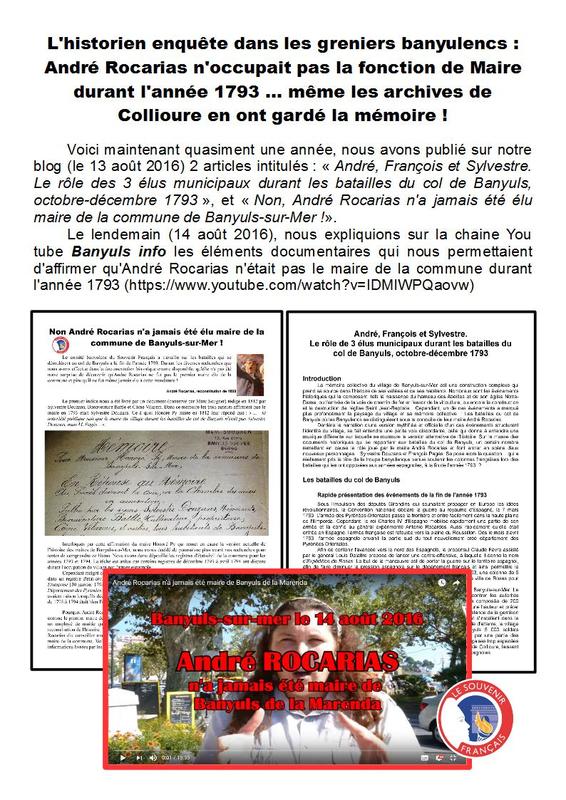 3) André Rocarias n'a jamais été Maire - Page 1