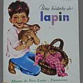 Livre collection ... une histoire de lapin (1969) * albums du père castor *