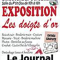 Exposition-vente les doigts d'or à saint-goudon (45)
