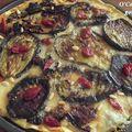 Tarte gorgonzola - aubergines et tomates confites