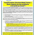 Instance de coordination temporaire :tract : transformation d'auchan retail france;quels impacts sur ......