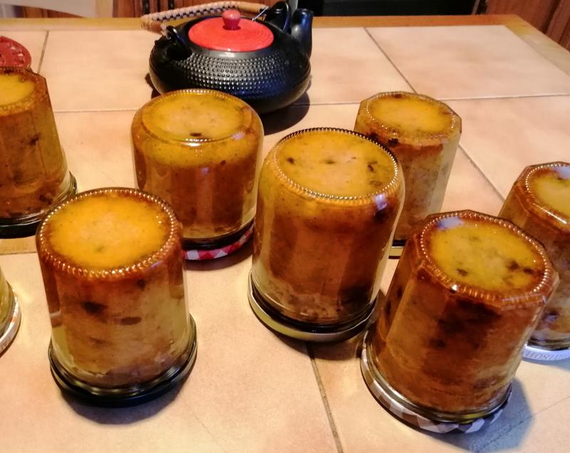 Cakes en bocaux citrouille amande et pépites de chocolat