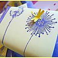 Cadeaux d'invités: savons customisés...