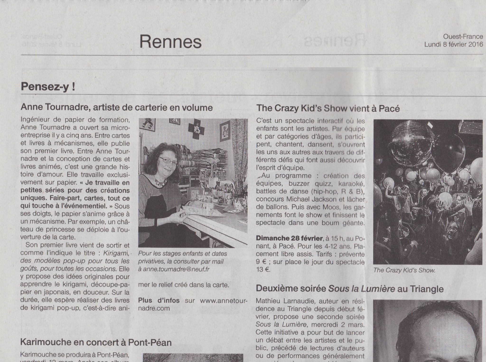 Ouest France 2016 01 08