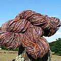 Mon premier fil ... montrable! my first yarn ( the first i can show you!).