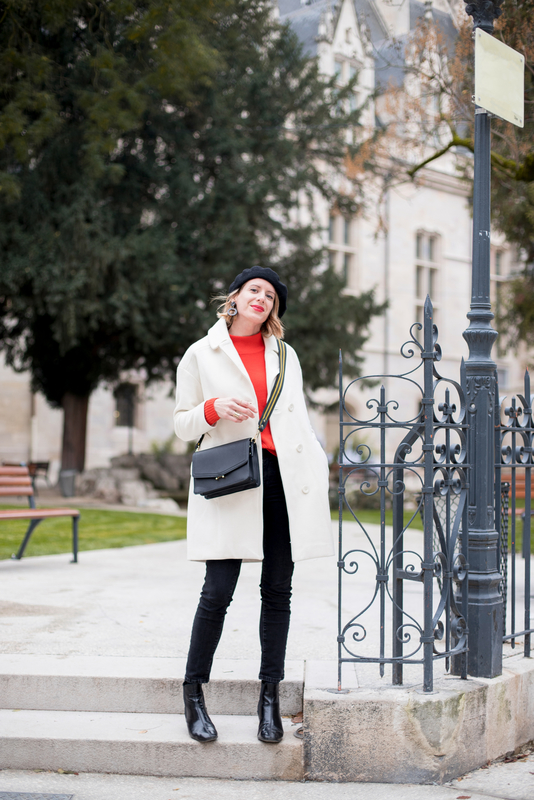 White coat and red knit -styliz (4)