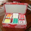Boîte tisane en cartonnage