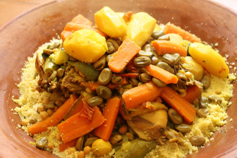Le couscous des familles en direct de casablanca chez requia cuisine et confidences - Direct cuisine ...