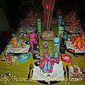 Décoration table nouvel an 2012 (thème année 70)