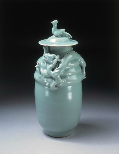 Green-glazed funerary jar, China, Longquan kilns, Southern Song dynasty