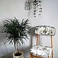 Chaise vintage années 50 jungle