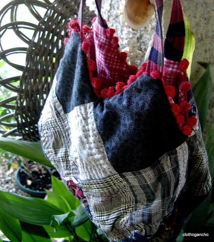 sac 22 carrés tissu de récup