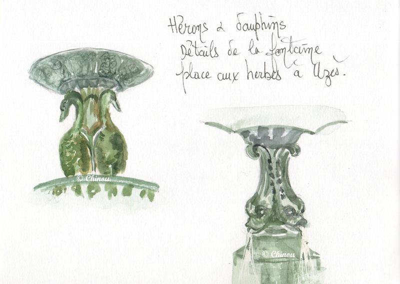 Uzès Fontaine place aux herbes