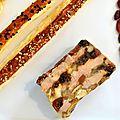 Nougat de foie gras aux fruits secs :