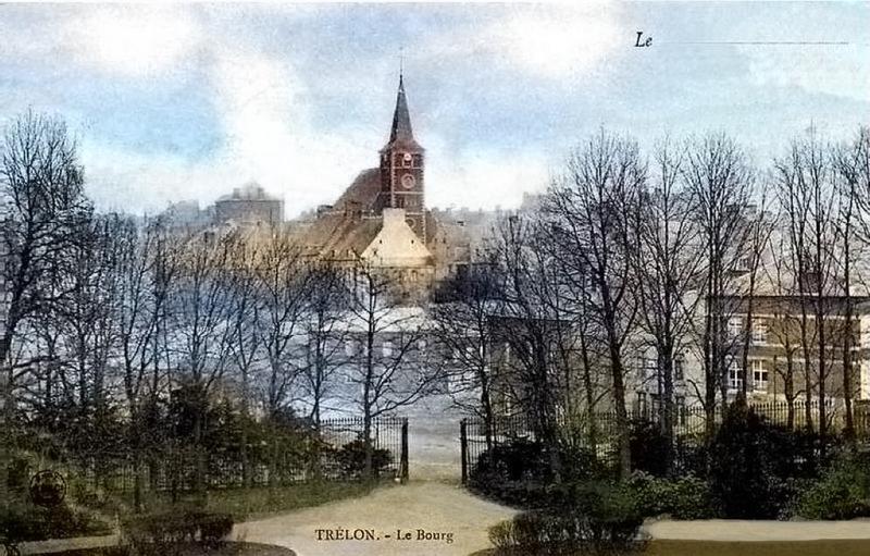 Vue du château de Trélon
