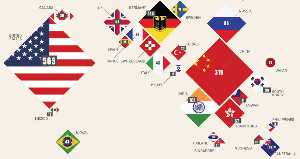 économie-The 25 countries with the most billionaires
