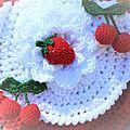 Sac crochet fruits rouges....
